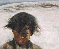 小扎西 布面油彩 - 12233 - 中国油画(一) - 2006年中国艺术品春季拍卖会 -收藏网
