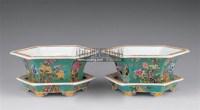永庆长春款五彩花盆 (一对) -  - 瓷器 玉器 杂项 - 2006年夏季拍卖会 -中国收藏网
