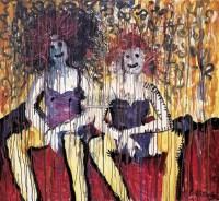 女孩你好 布面 丙烯 - 林国成 - 名家西画 当代艺术专场 - 2008年秋季艺术品拍卖会 -收藏网