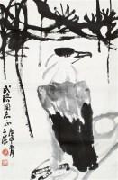 松鹰图 镜片 水墨纸本 - 116481 - 中国书画、油画 - 2011冬季古今艺术品拍卖会 -收藏网