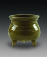 耀州窑三足炉 -  - 中国瓷杂 - 2010迎春艺术品拍卖会 -中国收藏网
