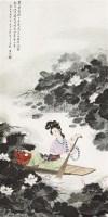 王昌龄诗意图 立轴 纸本 - 8580 - 保真作品专题 - 2011春季书画拍卖会 -收藏网