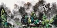 山水夏色 镜片 设色纸本 - 3662 - 当代中国画名家专场 - 2011秋季艺术品拍卖会 -收藏网
