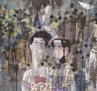 人物 镜心 设色纸本 - 张培成 - 当代中国书画 - 2006金秋拍卖会 -收藏网