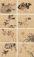 丙午(1726年)作 仿元人花卉 册页 (十二开选八) 水墨纸本 - 116874 - 中国古代书画 - 2006秋季拍卖会 -收藏网