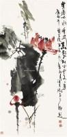 荷花 立轴 纸本 - 127940 - 中国书画 - 2011春季艺术品拍卖会 -收藏网