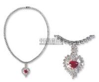 红宝石钻石挂件套组 -  - 珠宝翡翠专场 - 2007年精品预展 -中国收藏网