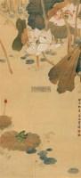 荷塘清趣 立轴 设色纸本 -  - 中国书画(一) - 2011书画精品拍卖会 -收藏网