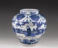 青花人物图罐 -  - 瓷器玉器艺术品 - 2005秋季青岛艺术品拍卖会 -收藏网