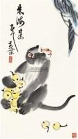 猴子 立轴 设色纸本 - 李燕 - 中国书画(二) - 2011夏拍艺术品拍卖会 -收藏网