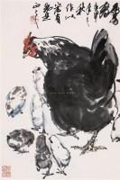 群鸡图 镜心 设色纸本 - 7693 - 中国书画 - 第55期中国艺术精品拍卖会 -收藏网
