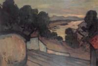 关良 1945年作 风景 油画 - 关良 - 油画专场 - 2006首届艺术品拍卖会 -收藏网