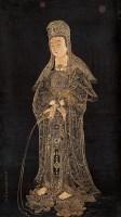 观音图 立轴 描金纸本 - 禹之鼎 - 中国古代书画 - 2007春季大型艺术品拍卖会 -收藏网
