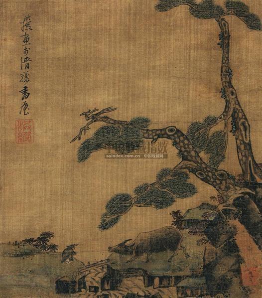 牧牛图-陈洪绶-中国古代书画夜场-5周年春季拍卖会图片