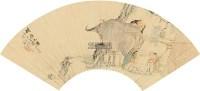 人物 扇轴 - 钱慧安 - 中国书画(二) - 2011金秋拍卖会 -收藏网