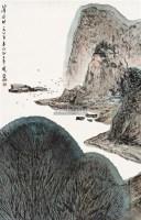 山清水明 立轴 设色纸本 - 亚明 - 中国书画二 - 2011年春季艺术品拍卖会 -收藏网