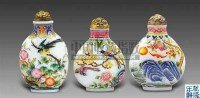 料彩花鸟纹鼻烟壶 (一组三件) -  - 艺术珍玩 - 十周年庆典拍卖会 -中国收藏网