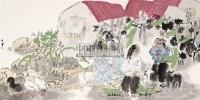 和谐山村 镜心 设色纸本 - 45682 - 当代水墨专场(四) - 2011秋季艺术品拍卖会 -收藏网