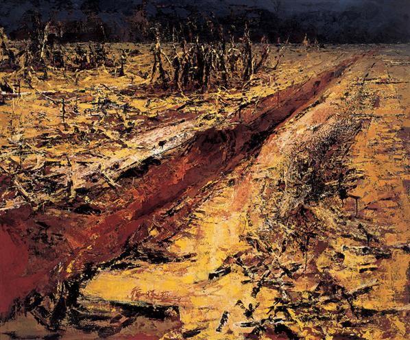 大地系列 布面 油画 - 137440 - 中国当代艺术 - 2006秋季拍卖会 -收藏网