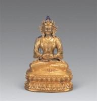 清 铜鎏金无量寿佛像 -  - 妙音天籁-佛教艺术品 - 2006年秋(十周年)拍卖会 -收藏网