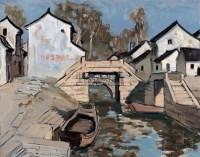 石桥 纸板油画 - 4322 - 油画专场 - 2006迎春首届大型艺术品拍卖会 -收藏网
