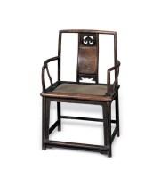 明 紫檀南官帽椅 -  - 明清古典家具 - 2007春拍瓷器雅玩家具拍卖 -收藏网