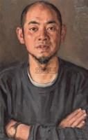 杨飞云 2005年作 男子肖像 - 杨飞云 - 中国油画雕塑 - 2006秋季拍卖会 -收藏网