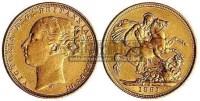 1891年英国维多利亚女皇骑马金币 -  - 金银币 - 2010秋季拍卖会 -收藏网