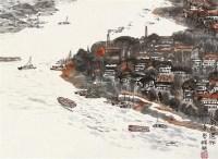 江畔一角 镜片 设色纸本 - 4879 - 长安之风 - 首届艺术品拍卖会 -中国收藏网