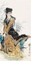 美女图 立轴 - 116765 - 中国书画 - 2011年春季艺术品拍卖会 -收藏网