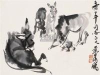 五驴图 镜心 水墨纸本 - 7693 - 中国书画 - 第55期中国艺术精品拍卖会 -收藏网