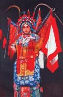 戏曲人物 布面 - 黄龙生 - 中国书画 油画 - 2008首届艺术品拍卖会 -收藏网