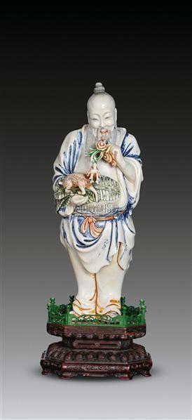 象牙雕福禄寿星像