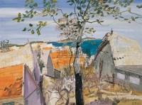 渔村写生 布面油画 - 140214 - 中国油画 - 2005秋季大型艺术品拍卖会 -收藏网