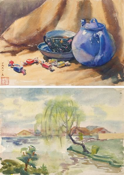 静物 纸本 水彩 - 140928 - 中国油画及雕塑 历史 主题 - 2008春季拍卖会 -收藏网