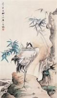 鹤 镜心 设色纸本 - 柳子谷 - 中国书画 - 2005年艺术品拍卖会 -收藏网