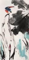 花鸟 立轴 设色纸本 - 卢光照 - 中国书画(一) - 2006年秋季拍卖会 -中国收藏网