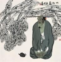 袁武 听松图 镜心 设色纸本 - 袁武 - 中国书画紫砂茗壶 - 2006年秋季拍卖会 -收藏网