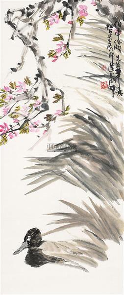 花鸟 镜心 纸本 - 4539 - 民间收藏书画拍卖会 - 民间收藏书画拍卖会 -收藏网