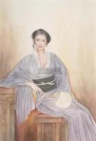 仕女 立轴 设色纸本 - 127854 - 中国书画 - 2006秋季拍卖会 -收藏网