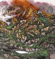 旭光 镜框 设色纸本 - 153390 - 名家作品(一) - 第16届广州国际艺术博览会名家作品拍卖会 -收藏网