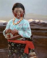 家在雪山下 布面 油画 - 于小冬 - 油画雕塑 - 2006秋季艺术精品拍卖会 -收藏网