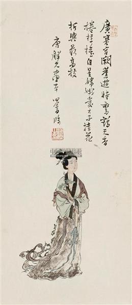 嫦娥折桂图 立轴 设色绢本 - 1518 - 小品专场 - 首届艺术品拍卖会 -收藏网