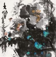 牡丹富贵 立轴 纸本 - 3950 - 中国书画 - 2011年春季拍卖会 -收藏网