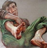 赵晓东 2006年作 无聊 色粉 - 157855 - 四川画派(油画) - 2006秋季拍卖会 -收藏网