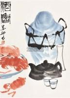 酒香 立轴 纸本设色 - 娄师白 - 中国书画(二) - 2011春季艺术品拍卖会 -收藏网