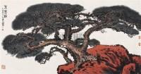 不老松 镜心 设色纸本 - 杨启舆 - 近现代书画 - 2007秋季中国书画名家精品拍卖会 -收藏网