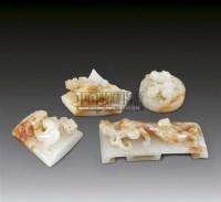 白玉浮雕螭龙纹剑饰 -  - 华艺专场 - 2011年拍卖会 -收藏网