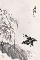 卢坤峰 蕉竹飞雀 立轴 水墨纸本 - 卢坤峰 - 中国书画(一) - 2006秋季艺术品拍卖会 -收藏网