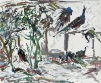 黄里 养孔雀的人家 布面 油画 - 155688 - 油画 - 2006年金秋珍品拍卖会 -收藏网